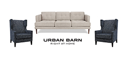 Urban Barn sofa with two armchairs